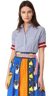 Полосатая футболка с короткими рукавами Stella Jean