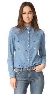 Рубашка на пуговицах с вышивкой Scotch & Soda/Maison Scotch