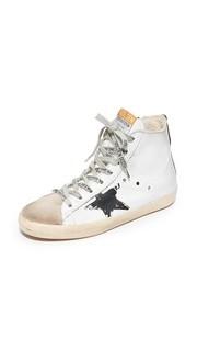 Белые кроссовки Francy с флагом Golden Goose