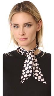 Узкий шелковый шарф с штампованным принтом в виде маленьких лепестков Kate Spade New York