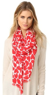 Heart to Heart Oblong Scarf Kate Spade New York