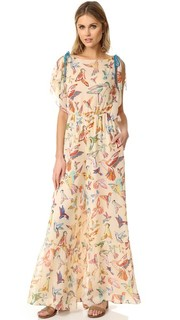 Print Birds Flare Jumpsuit RED Valentino