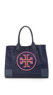 Объемная сумка Ella с логотипом из бисера Tory Burch