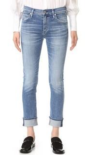 Узкие прямые джинсы с манжетами на щиколотке Jazmin Citizens of Humanity