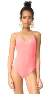 Barbie овальным вырезом сплошной купальник Lolli