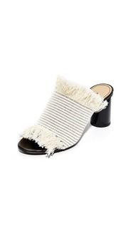 Туфли без задников с квадратным каблуком Proenza Schouler
