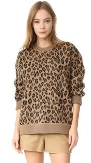 Пуловер с округлым вырезом Leopard Alexander Wang