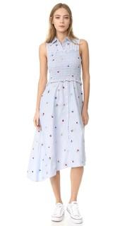 Платье-рубашка сборками Suno