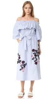 Платье с открытыми плечами Flare Suno