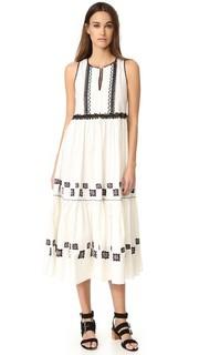 Макси-платье хлопок Leaf Suno