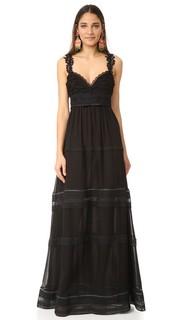 Длинное платье без рукавов Giambattista Valli