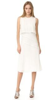 Плиссированное платье без рукавов Jason Wu