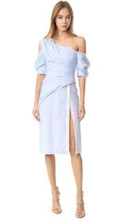 Платье-халат с открытым плечом J. Mendel