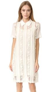 Платье с украшениями Flower Rochas