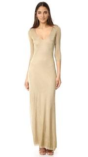Макси-платье с длинными рукавами Dsquared2