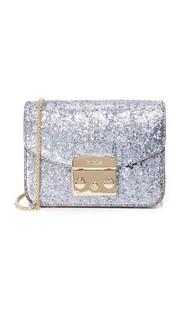Блестящие Метрополис мини-через плечо сумка Furla