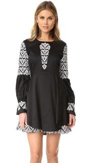 Платье с вышивкой и оборками Jonathan Simkhai