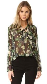 Блуза с цветочным Abby Marissa Webb