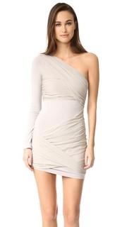 Платье с открытым плечом Goddess Crissy Wrap Alice + Olivia