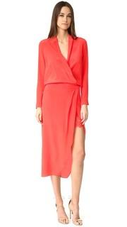Платье-халат с длинными рукавами и Кружевная комбинация Michelle Mason