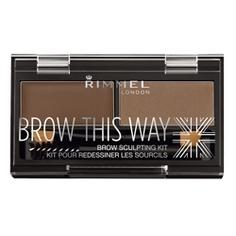 RIMMEL Тени для бровей Brow This Way № 002 средне-коричневый
