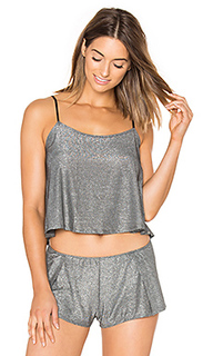 Metallic jersey flare cami - Only Hearts