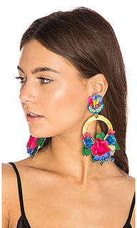 Flower hoop earring - Ranjana Khan