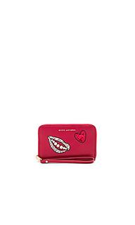 Sequin hand to heart zip phone wristlet - Marc Jacobs