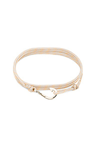 X revolve mini hook on thin rope bracelet - Miansai