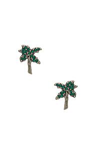 Серьги-гвоздики в форме пальм strass - Marc Jacobs