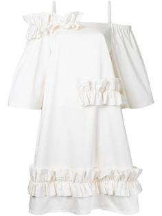 ruffled trim dress  Paskal