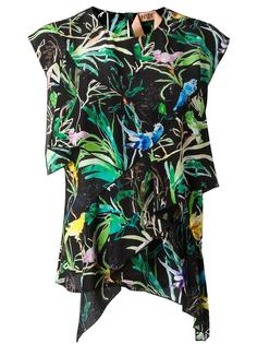 tropical print blouse Nº21