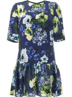 платье с цветочным узором Erdem