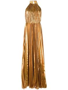 halterneck pleated gown Maria Lucia Hohan