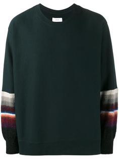 stripe-detailed sweatshirt Facetasm