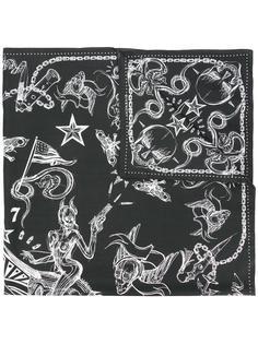 шарф с принтом адских созданий Givenchy Vintage