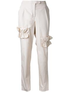 ruffled trim trousers  Paskal
