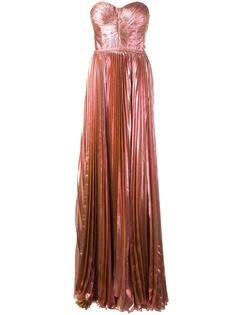 bustier pleated gown Maria Lucia Hohan