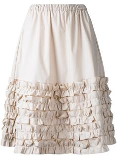 ruffled trim pleated skirt  Paskal