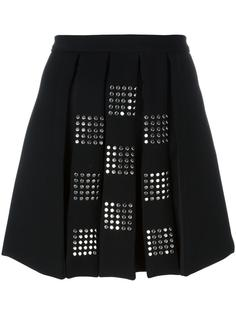 studded pleated front skirt Versus