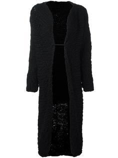 длинное трикотажное пальто  Yohji Yamamoto Vintage