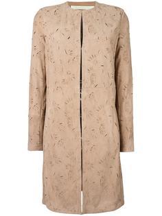 пальто с вырезным узором без воротника Drome