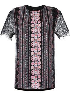 кружевная блузка с короткими рукавами Giambattista Valli