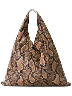сумка-тоут с эффектом крокодиловой кожи Mm6 Maison Margiela