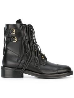 fringed trim boots  Elie Saab