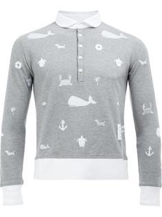 рубашка-поло с длинными рукавами Thom Browne