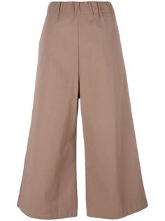 elasticated waistband flared trousers Water
