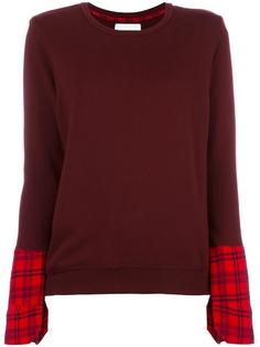 plaid cuffs sweatshirt Water