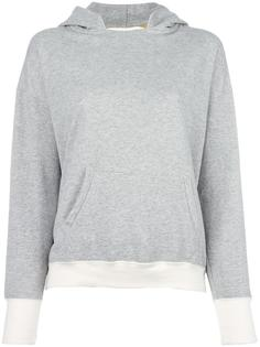 contrasting cuffs hoodie Water