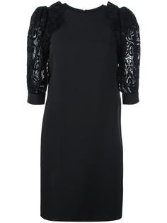 платье с кружевными рукавами Emanuel Ungaro